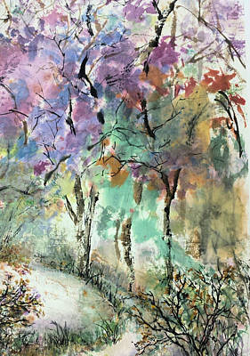 Painting - Path To Daydreams by Laurie Samara-Schlageter