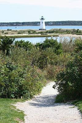 Photograph - Path To Edgartown Lighthouse by Carol Groenen