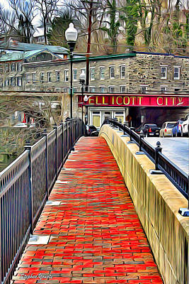 Md Digital Art - Path To Ellicott City by Stephen Younts