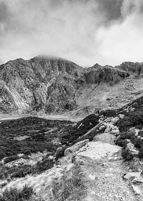 Photograph - Path To Glyder Fawr by Nick Bywater