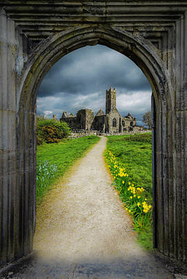 Photograph - Path To Ireland's Quin Abbey, County Clare by James Truett