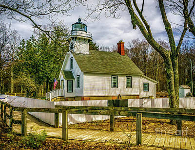 Photograph - Path To Mission Point Light by Nick Zelinsky