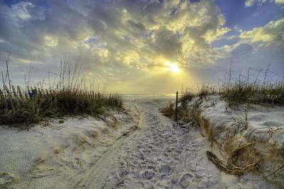 Path To Panama City Beach Print by JC Findley