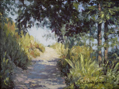 Painting - Path To Richard's Castle by L Diane Johnson