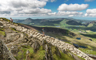 Pinion Photograph - Path To Snowdon by Adrian Evans