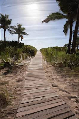 Painting - Path To South Beach by Alex Moura