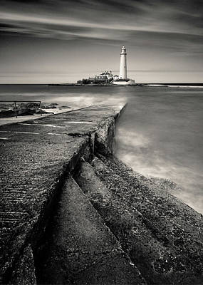 Photograph - Path To St Mary's Lighthouse by Dave Bowman