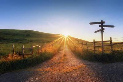 Photograph - Path To Sun by Mikel Martinez de Osaba