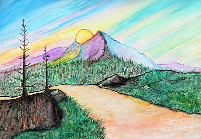 Path To Sunset Fantasy Original by Sabrina Wheeler