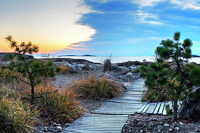 Photograph - Path To The Beach Preston Beach Marblehead Massachusetts Sunrise by Toby McGuire