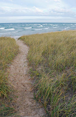 Shoreline Photograph - Path To The Beach by Twenty Two North Photography