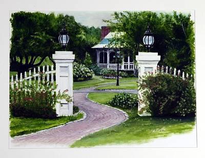 Path To The Garden Studio Art Print by Gail Wurtz