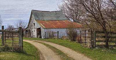 Split Rail Fence Photograph - Path To The Old Barn by William Sturgell