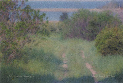 Mcentee Painting - Path To The Sea - Duxbury Ma by Bill McEntee
