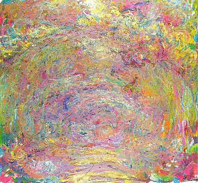 Path Under The Rose Trellises Art Print