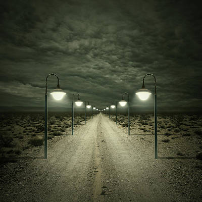 Street Lights Digital Art - Path by Zoltan Toth