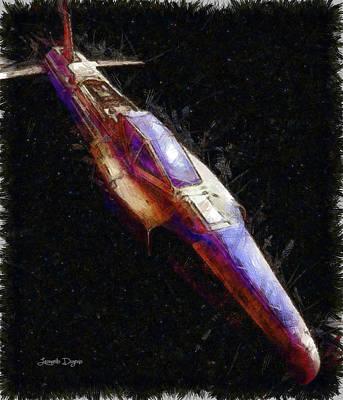 Times Digital Art - Pathfinder Scout Ship by Leonardo Digenio