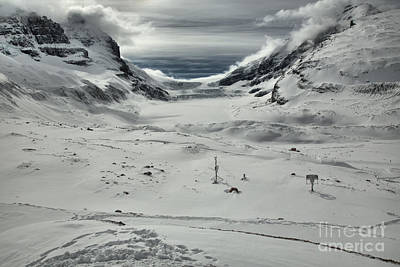 Photograph - Paths To The Athabasca Glacier by Adam Jewell