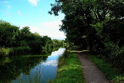 Swindon Photograph - Pathway And Waterway by Miles Byworth