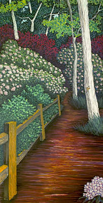 Pastel - Pathway Home Through Mountain Laurel Blooms by Michele Fritz