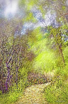 Digital Art - Pathway Rhythms by Joel Bruce Wallach