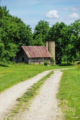 Photograph - Pathway Through A Farm by Jennifer White