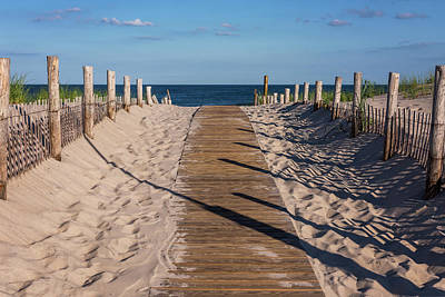Pathway To Beach Seaside New Jersey Print by Terry DeLuco