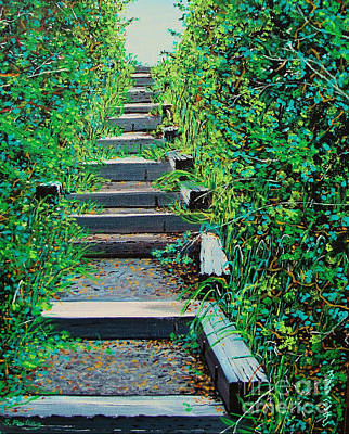 Pathway To Puget Sound Art Print by Stephen Ponting
