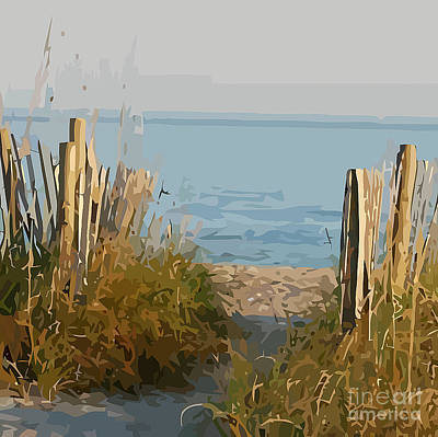 Sand Fences Mixed Media - Pathway To The Beach New Zealand by Clive Littin