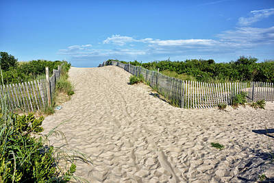 Art Print featuring the photograph Pathway To The Beach - Delaware by Brendan Reals