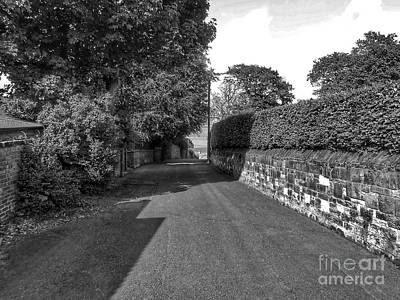 Photograph - Pathway To The Beach Wallasey In Monochrome by Joan-Violet Stretch