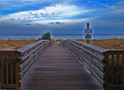 Photograph - Pathway To The Sea by JoDee Luna