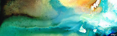 Blue Water Painting - Pathway To Zen by Sharon Cummings