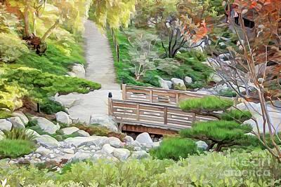 Photograph - Pathway Trough Japanese Garden by Gabriele Pomykaj