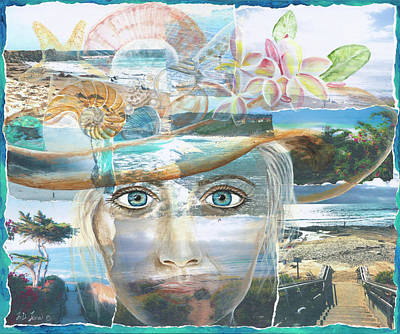 Mixed Media - Pathways To The Sea by JoDee Luna