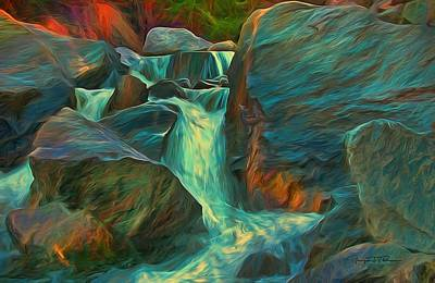Water Filter Mixed Media - Pathways by Todd Yoder