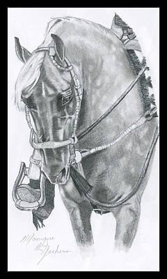Western Pleasure Horse Drawing - Patience by Monique Jachens
