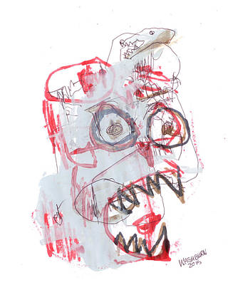 Bipolar Mixed Media - Patient In Room 32 by William Washburn