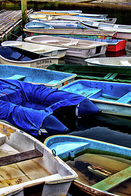 Patiently Waiting Dinghies Art Print