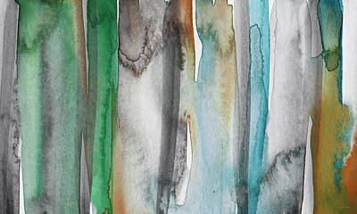 Card Painting - Patina- Abstract Art By Linda Woods by Linda Woods