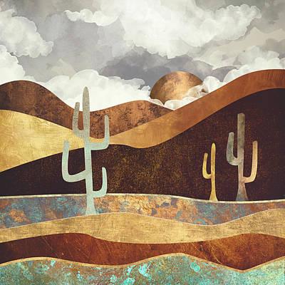 Abstract Landscape Digital Art - Patina Desert by Spacefrog Designs
