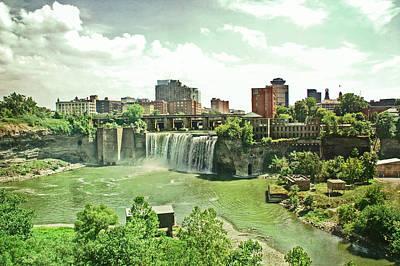 Photograph - Patina Green High Falls by Aimee L Maher Photography and Art Visit ALMGallerydotcom
