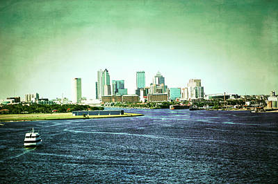Photograph - Patina Green Tampa Skyline by Aimee L Maher ALM GALLERY