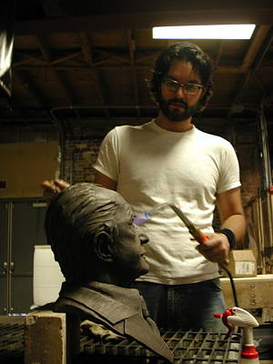 Sculpture - Patination Process by John Gibbs