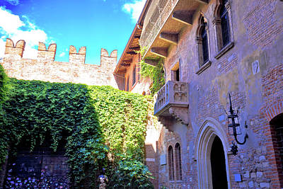 Photograph - Patio And Balcony Of Romeo And Juliet House In Verona by Brch Photography