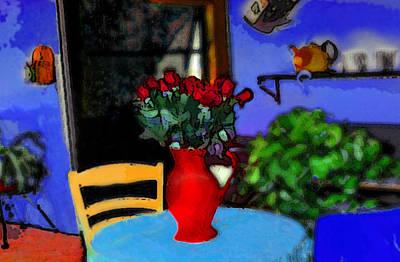Digital Art - Patio Art by Miss Pet Sitter