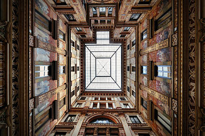 Photograph - Patio Ceiling by Songquan Deng
