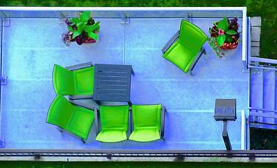Photograph - Patio Chairs by Stephanie Moore