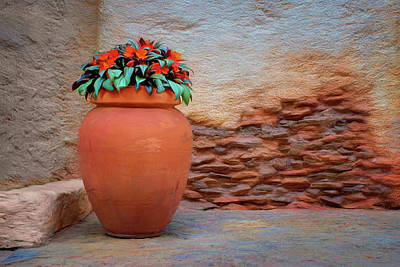 Crock Photograph - Patio Corner by Nikolyn McDonald