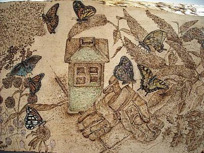 Patio Garden Original by Doris Lindsey